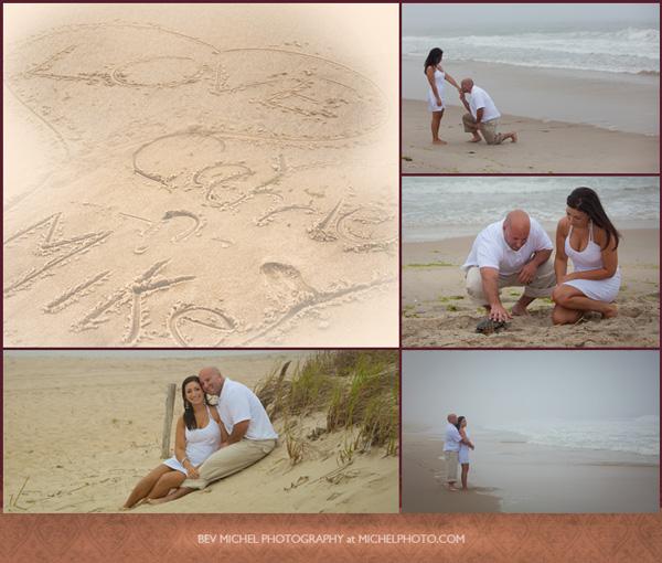 Beach Engagement Portrait