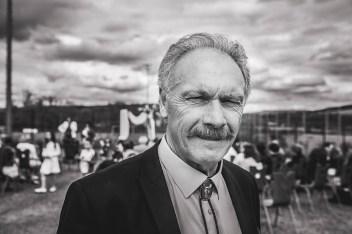 Reportage Mariage, portrait en noir et blanc