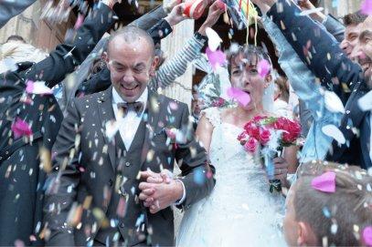 Photo mariage. Sortie de l'église