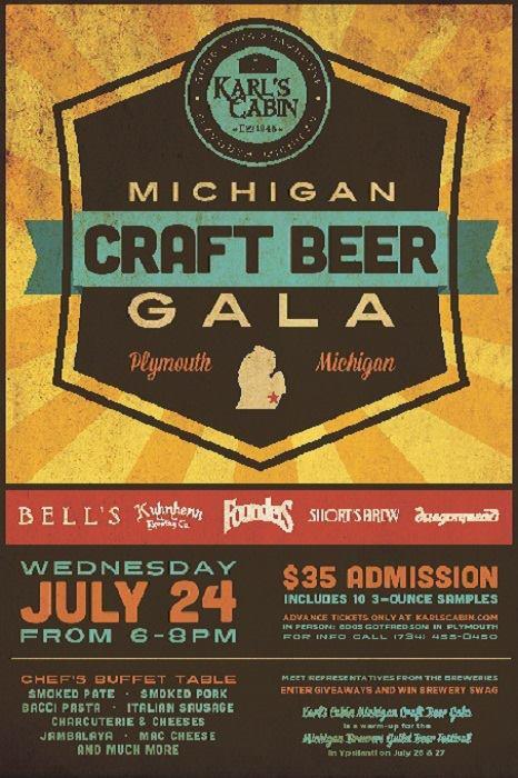 Michigan Craft Beer Gala Karl's Cabin Plymouth Michigan