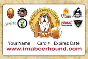I'm A Beer Hound Membership Card Michigan Breweries