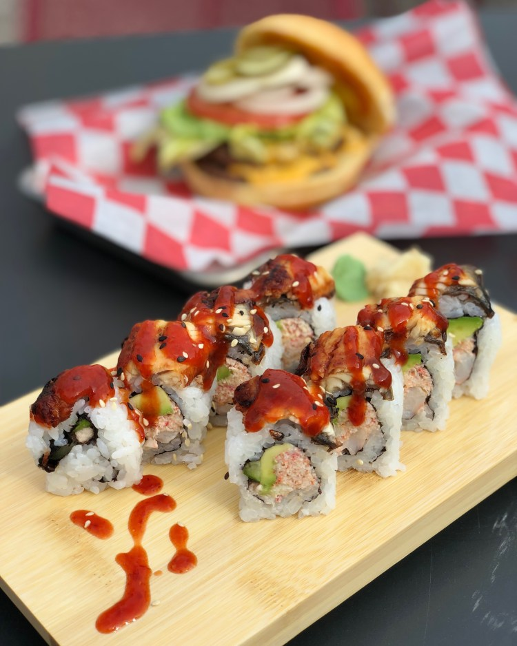 Bushi Burgers Sushi Traverse City Michigan