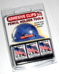 Adhesive Clip Hard Hat Pencil Holder - 3 Pack | Nifty Clips