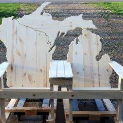 Cedar Adirondack Chairs Plans Compact Office Chair Lake Michigan Bench | Picwood Usa
