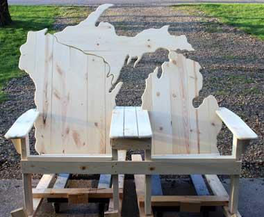 michigan adirondack chair wheelchair vans for sale near me lake bench picwood usa