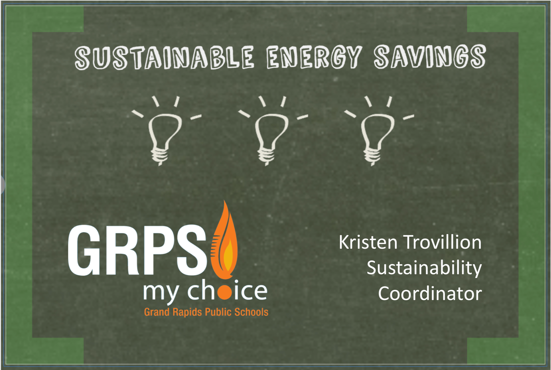 GRPS: Sustainable Energy Savings