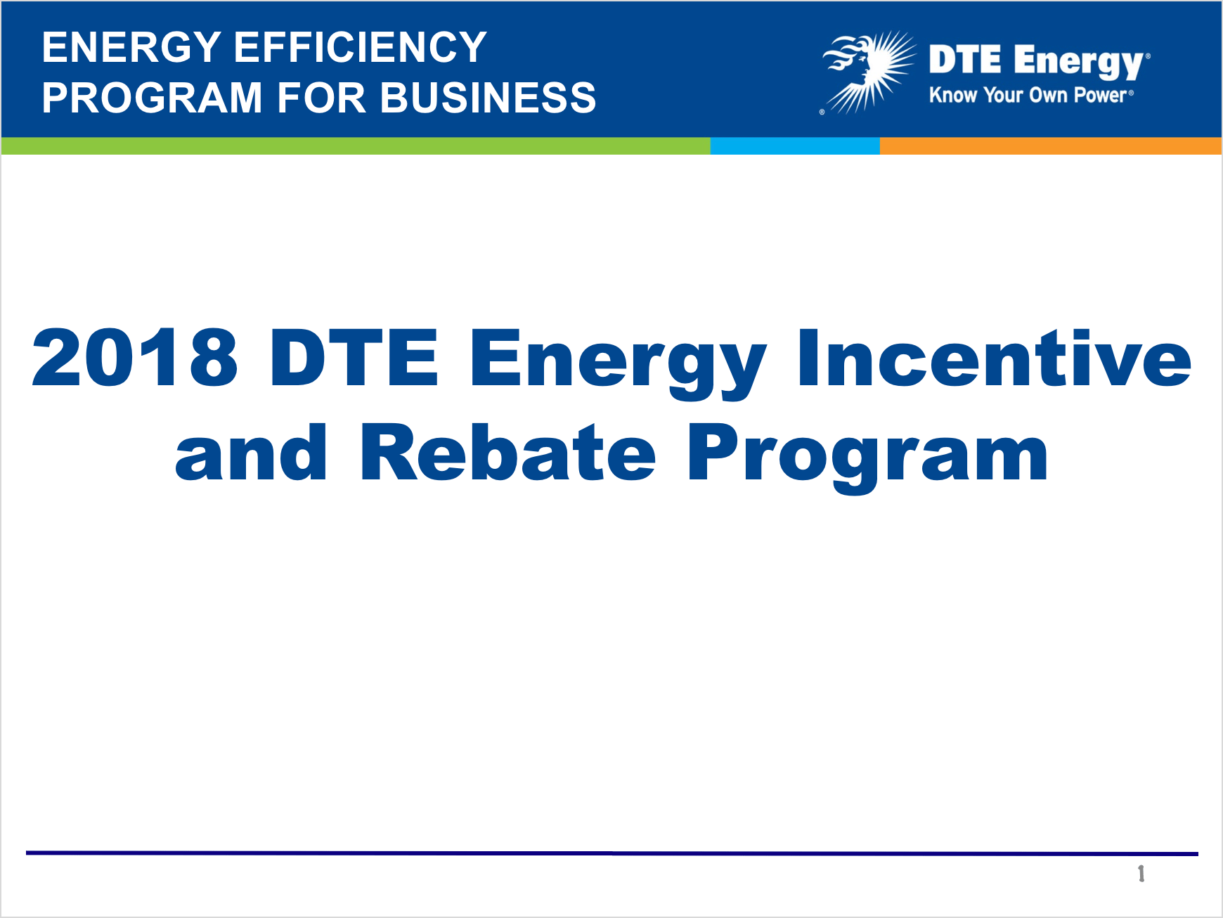 DTE Energy Incentive and Rebate Program