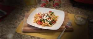 Greek Pasta with Tomatoes and Beans
