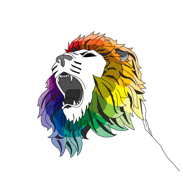 Lion Color Wheel Illustration by Michigan Business Designs