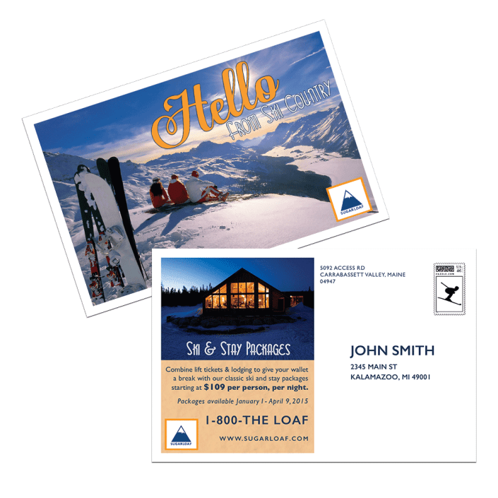Sugarloaf Postcards Print Design by Michigan Business Designs