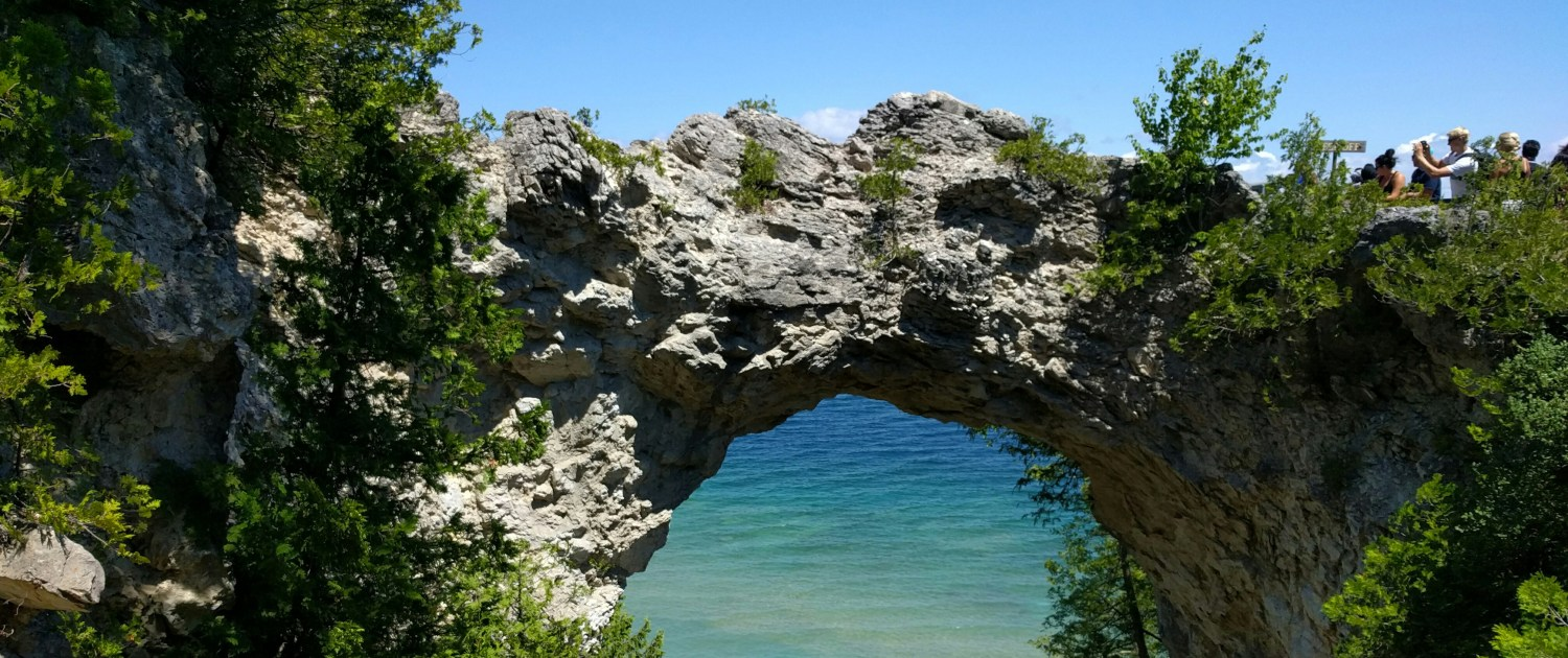 Arch Rock Mackinac Island by Viplav Valluri