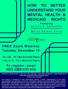 How to better understand your mental health & medicaid rights