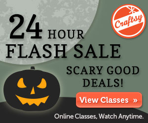 Craftsy 24 Hour Halloween Flash Sale! Ends at Midnight Tonight!