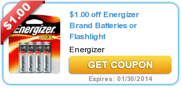New Coupons: DVDs + DOLE + Energizer 11/4