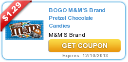 New Coupons (M & M + Gerber + Nature Made + Green Mountain) 11/13