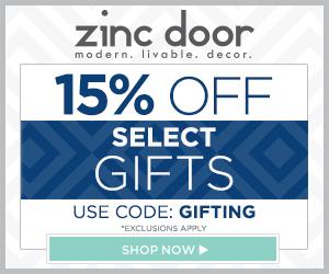 Zinc Door Offers 15% off Select Gifts & Features Trina Turk Bedding