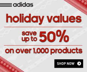 adidas 50% Off Sale + Free Shipping through 1/1/14