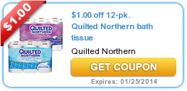 New Coupons and Offers (Windex + Quilted Northern + Dial) 1/13