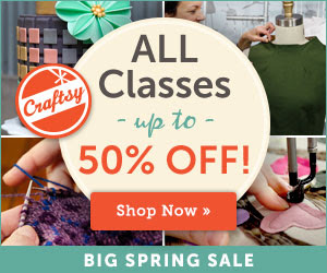 Save Up to 50% on All Craftsy Classes