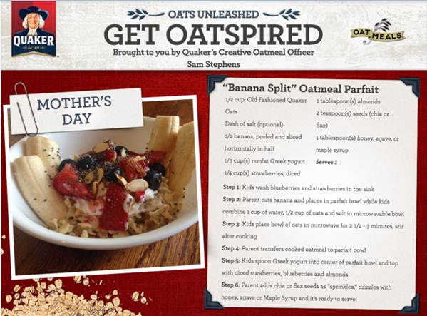 Quaker's Kid-Friendly Mother's Day Recipes