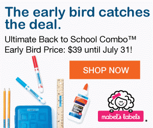 Mabel's Labels Back-To-School Early Bird Pricing