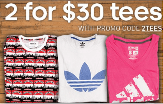 #CollegeCampusDeal: adidas 2 Graphic and Ultimate Tees for $30
