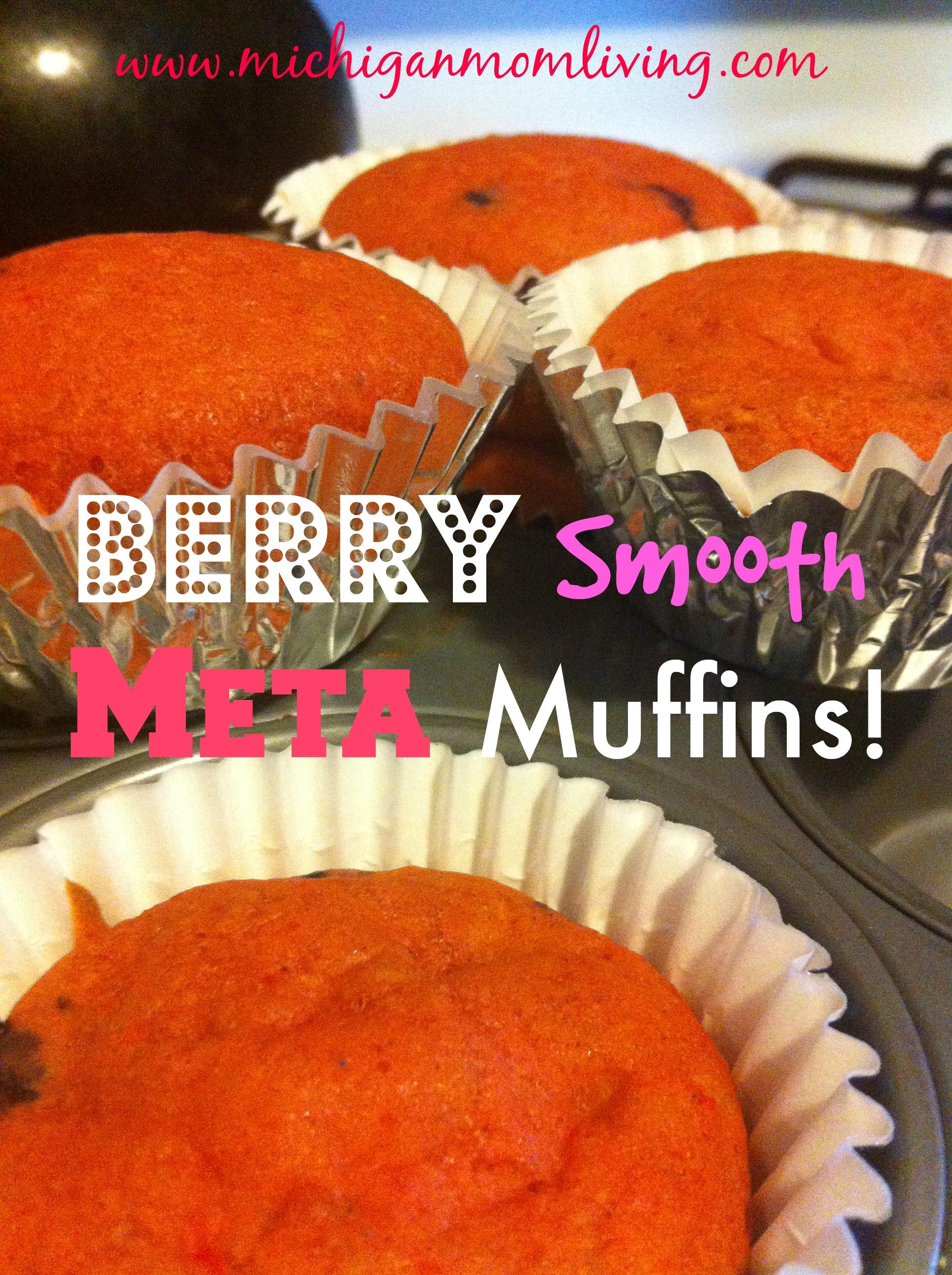Morning Berry Smooth Meta Muffins {Recipe} #Metamucil #Meijer