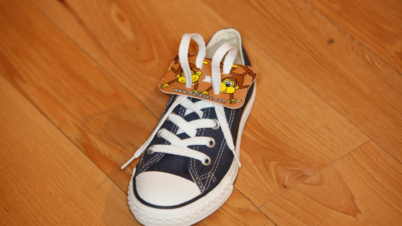 Kids Can Learn to Tie their Shoe with #EZLeaps Shoe Tying Tool