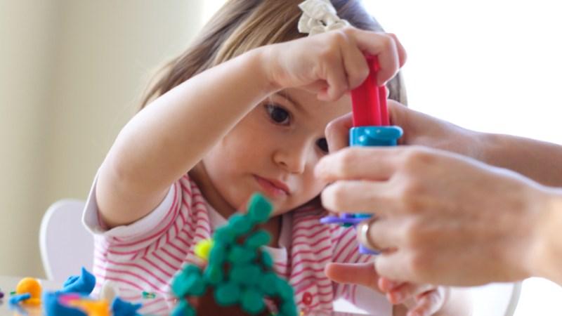 Easy No-Cook Winter Playdough Recipe for Kids