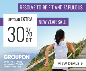 Groupon New Year Sale: Resolve to Be Fit & Fabulous Up to an Extra 30% Off Ends 1/11