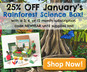 January Special: 25% off Rainforest Science Discovery Box {Until Supplies Last}