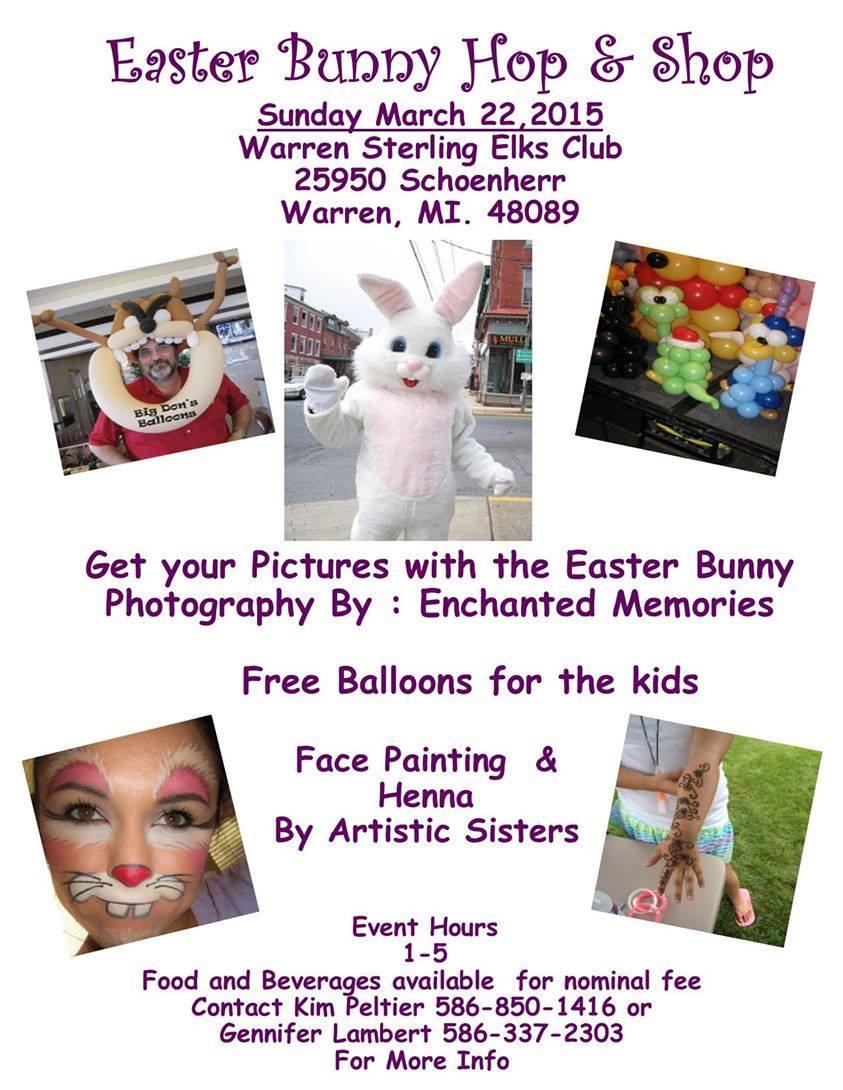 Easter Bunny Hop & Shop 3/22-Warren