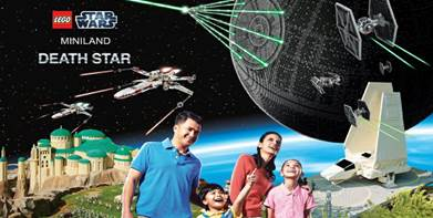 LEGOLAND® California Resort Unveils Lego® Star Wars™ Miniland Death Star Model Display