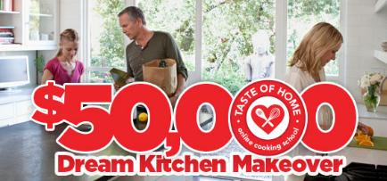Taste of Home Online Cooking School Sweepstakes: Win a $50K Dream Kitchen Makeover