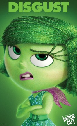 """INSIDE OUT"" (Pictured) DISGUST. ©2014 Disney•Pixar. All Rights Reserved."