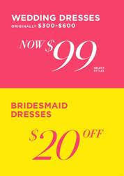 David's Bridal July Sale! Ends July 28th