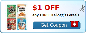 Coupon Savings 7/7: $1 Off 3 Kellogg's Cereals, $10 Off 1 Bag of Purina Pro Plan Pet Food, & More!