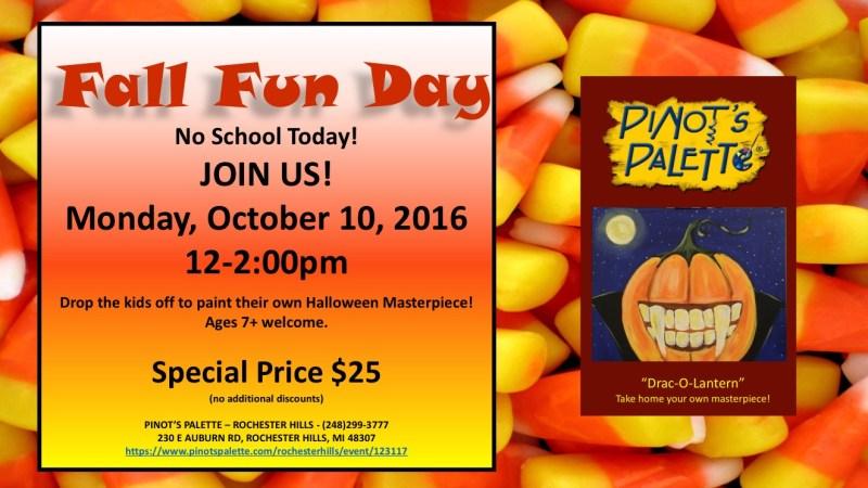 Fall Fun @ Pinot's Palette-Rochester Hills