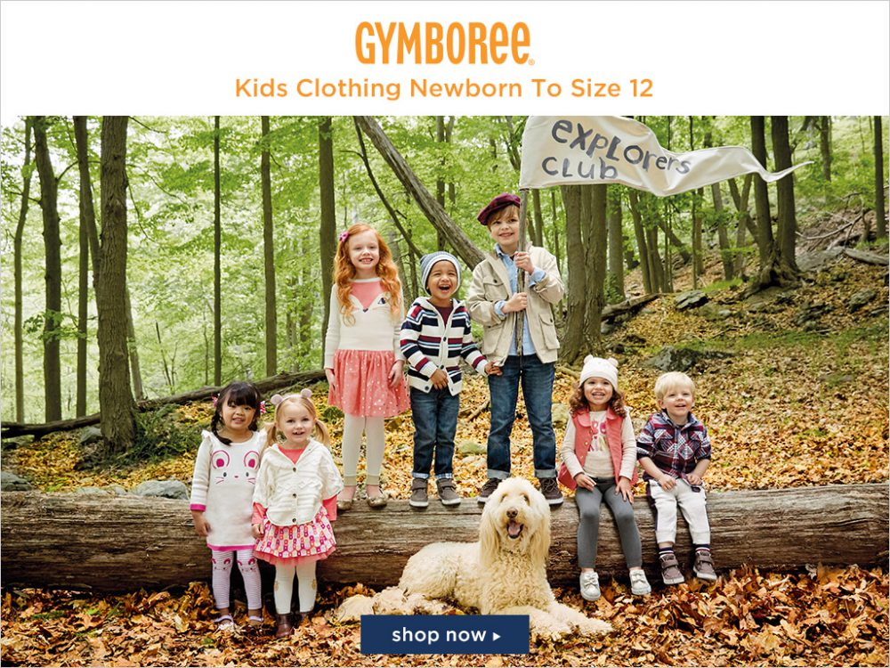 Gymboree: 50% off entire purchase
