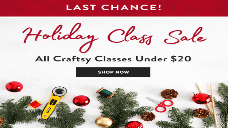 #Craftsy Holiday Class Sale! Ends 12/26 #Ad