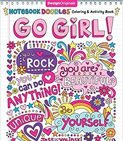 Notebook Doodles Go Girl!: Coloring & Activity Book {Book Promotion}