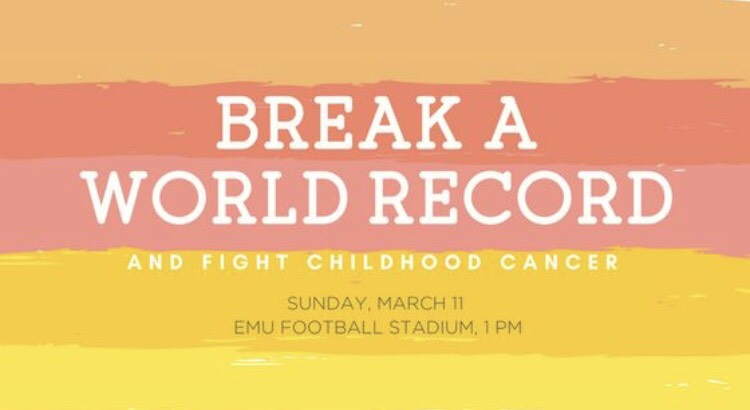 Break a World Record and Fight Childhood Cancer #HeartsWithPurpose