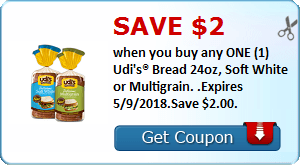 Daily Coupon Deals: Save $2 When you Buy any 1 Uldi's Bread Expires 5/9/18 #CouponAd #AffiliateLink