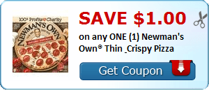 Daily Coupon Deals: Save $1 On Any ONE Newman's Own Thin Crispy Pizza #CouponAd #AffiliateLink
