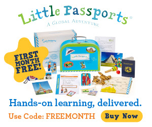First Month Free When You Buy a 6 Month or 12 Month Subscription of Little Passports!