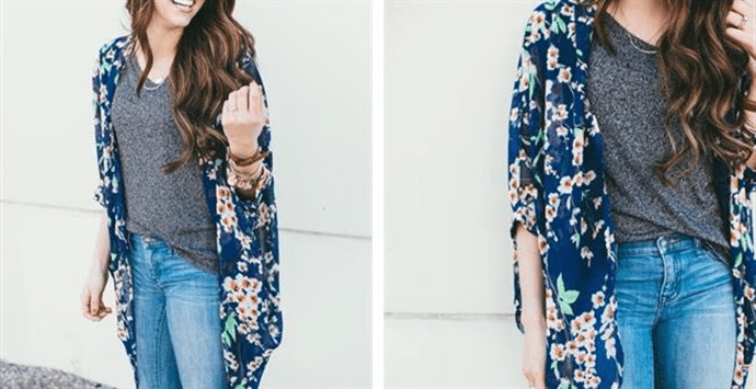 Beautiful Blue Kimono – Was $29.99 – Ships for $20.98! Ends 6/20
