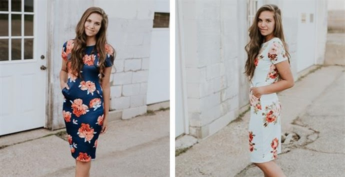 Perfect Floral Midi | 2 Colors | Free Shipping – Was $56.00 – Now $28.99 + Free Shipping!