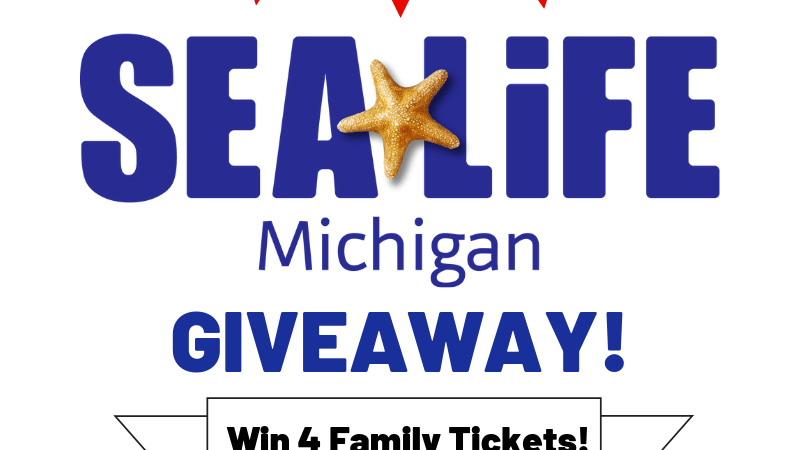 SEA LIFE Aquarium (Michigan) 4 Family Tickets Giveaway! Ends 11/06/2018