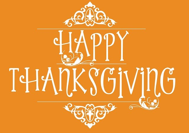Happy Thanksgiving! We will Return Tuesday, November 27, 2018!