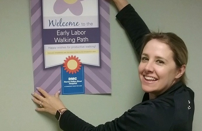Interactive Walking Path Created for Expectant Mothers at Huron Valley-Sinai Hospital